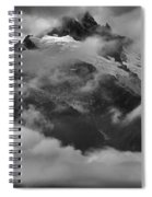 Jagged Peaks Glaciers And Storms Spiral Notebook