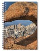 Jagged Peaks Through Mobius Spiral Notebook