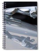 Jaguar Car Hood Ornament Reflection Spiral Notebook