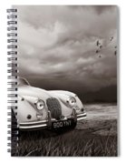 Jaguar Xk150 - Admiring The View Spiral Notebook