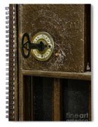 Jail Cell Door Lock  And Key Close Up Spiral Notebook