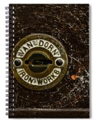 Jail Cell Door Lock Close Up Spiral Notebook