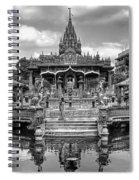 Jain Temple Monochrome Spiral Notebook