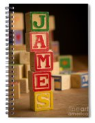 James - Alphabet Blocks Spiral Notebook