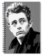 James Dean In Black And White Spiral Notebook