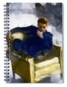 James Dean In Yellow Leather Chair Spiral Notebook