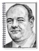 James Gandolfini In 2007 Spiral Notebook