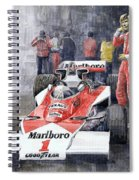 James Hunt Monaco Gp 1977 Mclaren M23 Spiral Notebook