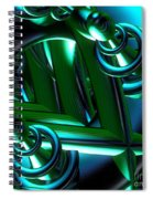 Jammer Blue Green Flux 001 Spiral Notebook