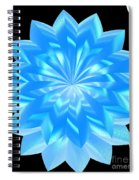 jammer Blue Shimmer Lotus Spiral Notebook