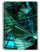 Jammer Swirling Emeralds  Spiral Notebook