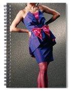 Janepinkbow-b Spiral Notebook