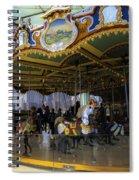 Jane's Carousel 1 In Dumbo Spiral Notebook