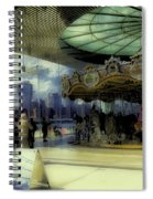 Jane's Carousel 3 In Dumbo Spiral Notebook
