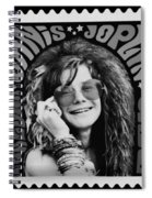 Janis Stamp In A Black And White Vibe Spiral Notebook