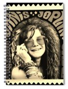 Janis Stamp In A Sepia Vibe Spiral Notebook