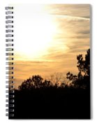 January 2013 Sunset Spiral Notebook