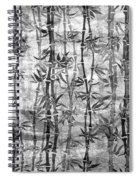 Japanese Bamboo Grunge Black And White Spiral Notebook