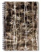 Japanese Bamboo Sepia Grunge Spiral Notebook