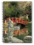 Japanese Bridge Over Water Spiral Notebook