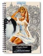 Japanese Chin Art - Una Parisienne Movie Poster Spiral Notebook