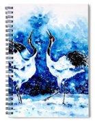 Japanese Cranes Spiral Notebook
