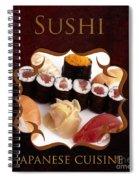 Japanese Cuisine Gallery Spiral Notebook