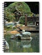 Japanese Garden At Sundown Spiral Notebook