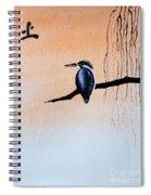 Japanese Kawasemi Kingfisher Feng Shui Earth Spiral Notebook
