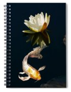 Japanese Koi Fish And Water Lily Flower Spiral Notebook