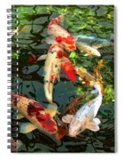 Japanese Koi Fish Pond Spiral Notebook