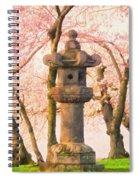 Japanese Stone Lantern Spiral Notebook