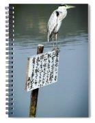 Japanese Waterfowl - Kyoto Japan Spiral Notebook
