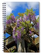 Japanese Wisteria On Trellis Spiral Notebook