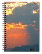 Japanese Zero Fighter Plane Taking Off At Sunset Spiral Notebook