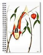 Japnese Koi Shuisui Chinese Lantern Painting Spiral Notebook
