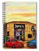 Java U Cafe Jean Talon Car Wash Coffee Shop Depanneur Montreal Art Sale Cspandau                     Spiral Notebook