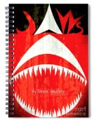 Jaws Minimalist Poster  Spiral Notebook
