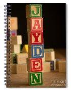 Jayden - Alphabet Blocks Spiral Notebook