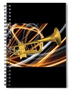 Jazz Art Trumpet Spiral Notebook