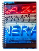 Jazz Funeral And Lamp Nola Spiral Notebook