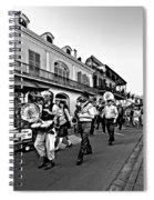 Jazz Funeral Bw Spiral Notebook