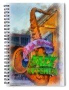 Jazz Kitchen Signage Downtown Disneyland Photo Art 01 Spiral Notebook