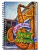 Jazz Kitchen Signage Downtown Disneyland Photo Art 02 Spiral Notebook