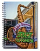 Jazz Kitchen Signage Downtown Disneyland Spiral Notebook