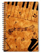 Jazz Music Coffee Painting Spiral Notebook
