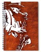 Jazz Saxofon Player Coffee Painting Spiral Notebook