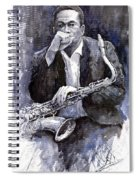 Jazz Saxophonist John Coltrane Black Spiral Notebook
