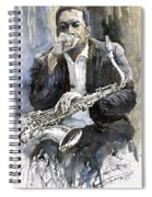 Jazz Saxophonist John Coltrane Yellow Spiral Notebook