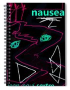Jean Paul Sartre Nausea Poster Spiral Notebook